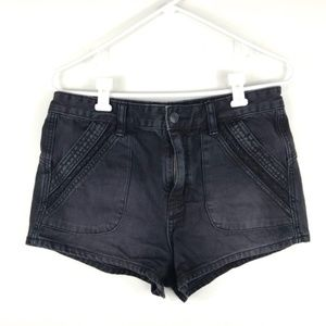 Free People Black Denim Shorts size 29